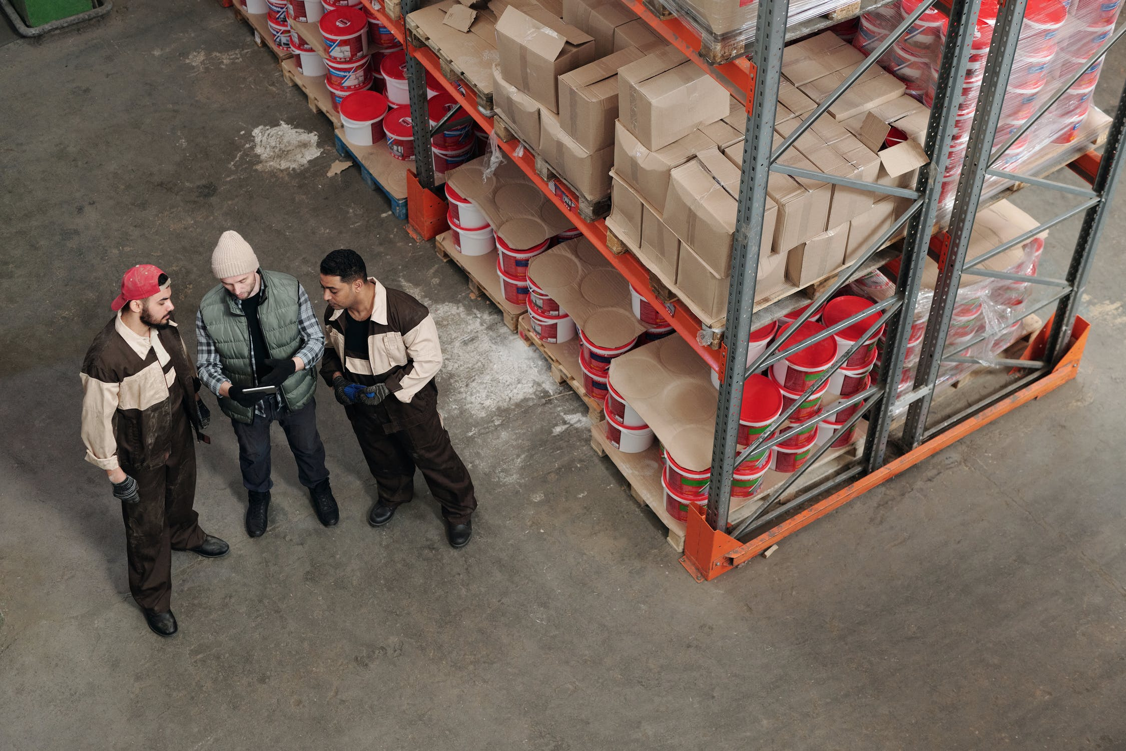 Workers of a 3PL Warehouse