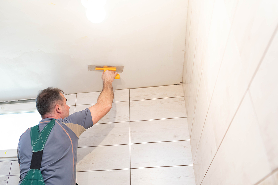 complete bathroom renovations professional plastering the ceiling